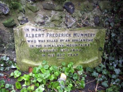 Памятная табличка Альберт Маммери (Albert Frederick Mummery) кладбище Св. Петра и Павла, Чарльтон