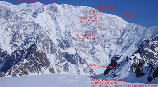 Маунт Логан (англ. Mount Logan) по юго-восточной стене (5959м, Канада)