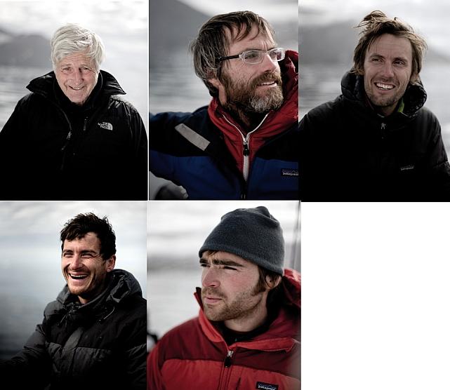 С лева направо: Bob Shepton, Ben Ditto, Nicolas Favressse, Olivier Favressse, Sean Villanueva