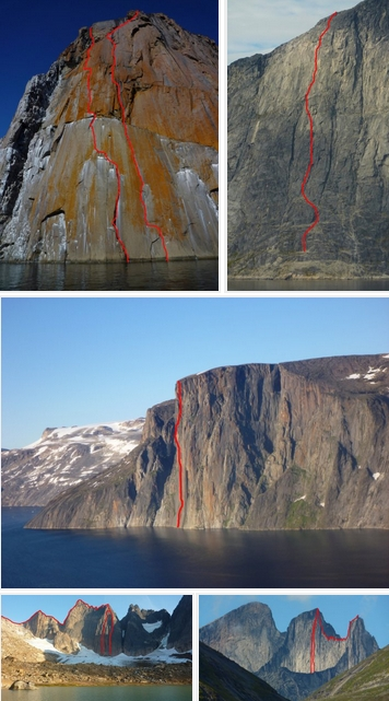 9 скальных трад-маршрутов на западном и южном побережьях Гренландии