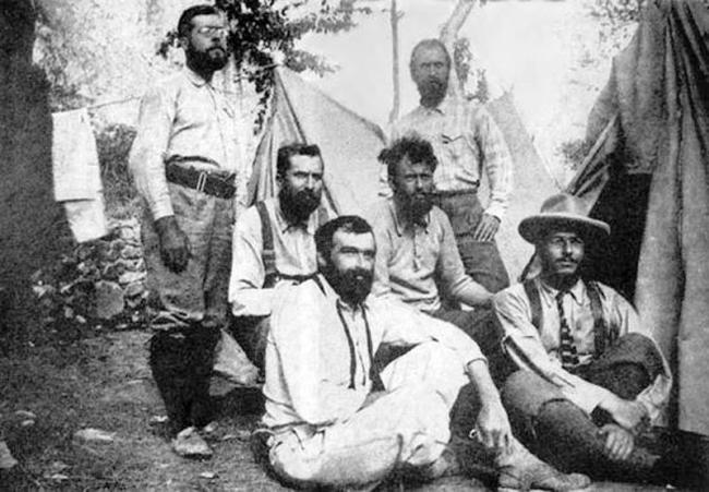 Victor Wessely, Heinrich Pfannl, Oscar Eckenstein, Aleister Crowley, J.Jacot-Guillarmod, George Know