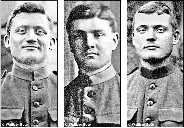 Fidelis Ebener (слева), Cletus Ebener (в центре), Johann Ebener (справа)