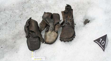 Ботинки, найденные рядом с телами альпинистов