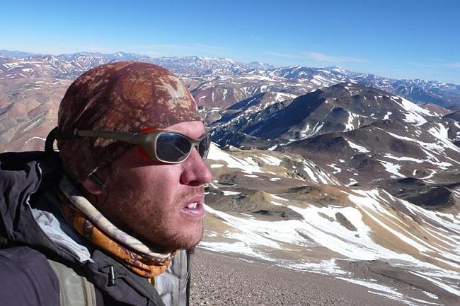 Maximo Kausch на вершине Tórtolas (6.163 м)