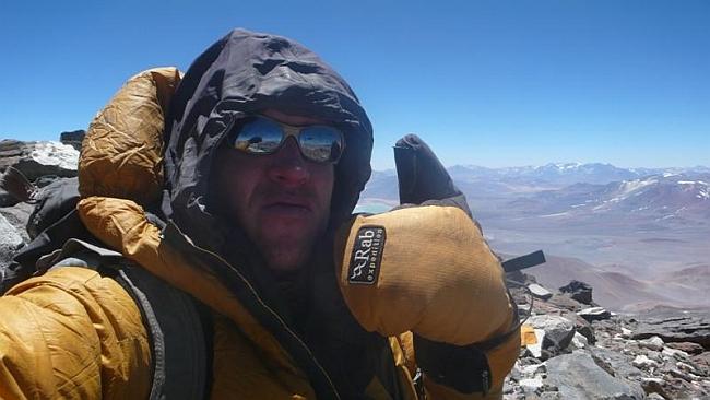 Maximo Kausch на вершине Bonete Chico (6.772 м)