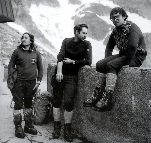 Джанкарло Грасси (Giancarlo Grassi) с  Ренатто Казаротто (Renato Casarotto) и Gianni Comino