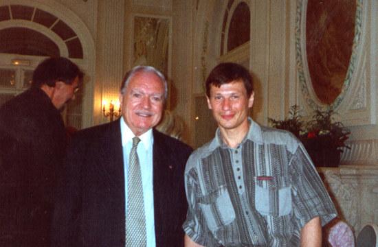 Морис Эрцог (Maurice Herzog) С Алексеем Болотовым