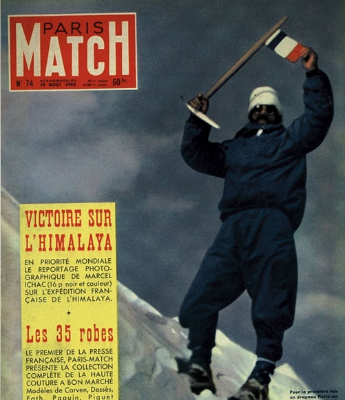 Морис Эрцог (Maurice Herzog) на обложке Пари Мач (Paris Match)