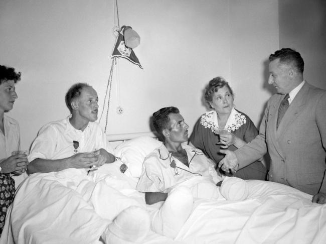 В госпитале в Катманду - крайняя степень истощения