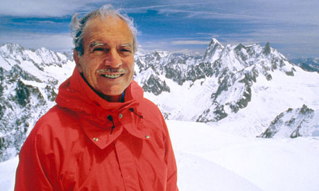 Maurice Herzog в Шамони в 1990 году