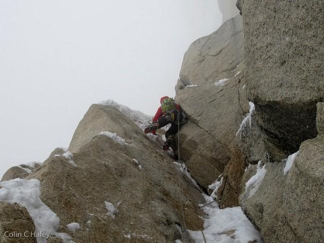 """Микст М6 на маршруте """"Tobogan"""" (Cerro Standhardt Патагония)"""