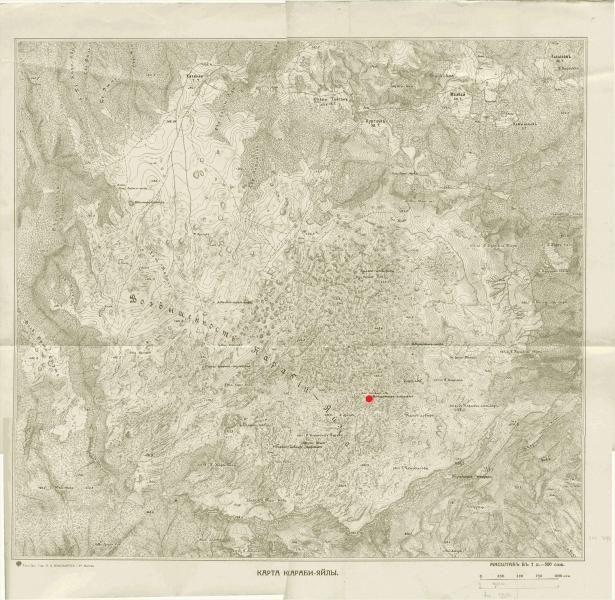 Пещера Монастырь Чокрак на карте Караби-Яйлы